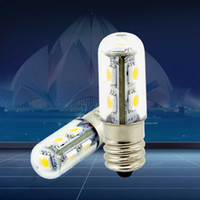 Wholesale BEST E14 W x5050 SMD LM K Warm White Light LED Refrigerator Bulb Corn Light V V AC