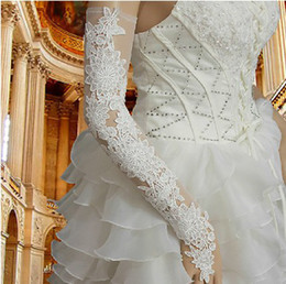 "Wholesale New Style Gloves - New style Long Glove 50 cm ""Ivory lace Fingerless Bride Glove B047"