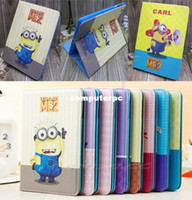 Wholesale Despicable Tab - Despicable ME 2 II Minion Cartoon Stand Leather Case Cover For Samsung Galaxy Tab 3 7.0 T210 T211 P3200 P3210