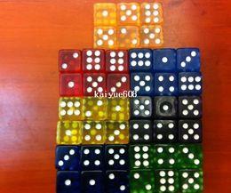Wholesale Color Dices - 16 * 16 * 16MM Transfer Acryl Gambling Game dice \u0026 Color random