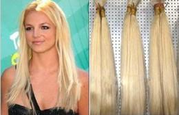 Braiding Hair Human Free Shipping NZ - Grade 8a virgin brazilian straight wave 4pcs lot blonde hair weft human hair bulk for braiding 613# light blonde hair products free shipping