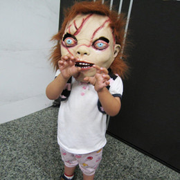 Wholesale Chucky Full Head Mask - CHUCKY Mask Latex Full Head Adult Costume Halloween Creepy Scary free shipping