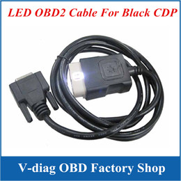 Wholesale Black Cdp Pro Plus - OBD II Cable Best Quality LED OBD2 Cable Suitable for black and RED TCS CDP PRO PLUS cn Post Free Shipping