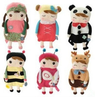 Wholesale Metoo Bags - Fashion Hot Lovely Baby Angela Doll backpack Children School bags Metoo bags