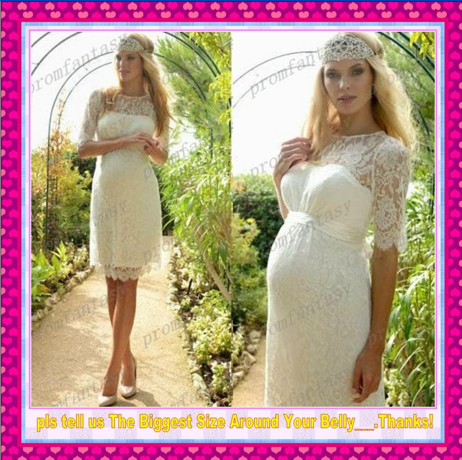 2016 short lace garden empire maternity wedding dresses sheer crew 2016 short lace garden empire maternity wedding dresses sheer crew neck elegant sheer short sleeves mini cheap bridal party reception gowns pink wedding ombrellifo Choice Image