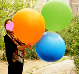 Wholesale Extra Large Latex Balloons - Top quality Cheap 36 Inch Extra large Clear Latex Balloons More Color Best For Wedding Birthday Party Decoration 200pcs