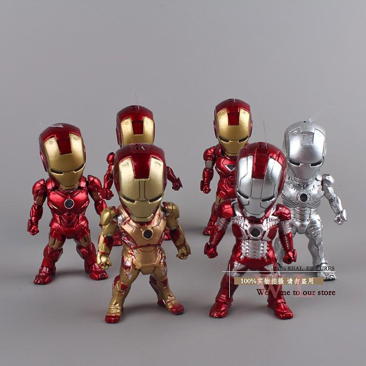 2018 marvel superheros mini egg attack iron man 3 pvc - Mini iron man ...