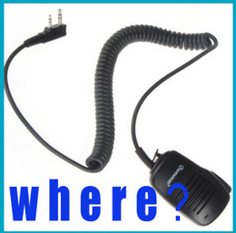 Wholesale Two Way Radios Microphone - X2 speedy Rainproof 2 Pin Wouxun SMO-001 Two Way Radio Walkie Talkie Remote Headheld Speaker Microphone interphone,Free Shipping