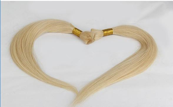 Grade 8a virgin brazilian straight wave blonde hair weft human hair bulk for braiding 613# light blonde hair products
