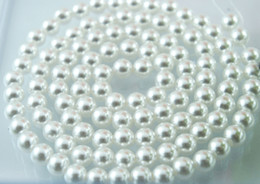 Wholesale 8mm Plastic Pearls - 1000PCS lot white 8mm Imitation pearls Loose bead white Acrylic Pearl Beads DIY Resin hot Spacer for Jewelry Free Shipping!