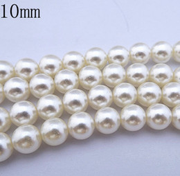 Wholesale Wholesale Loose Plastic Beads - New 1000PCS lot white 10mm Imitation pearls Loose bead white Acrylic Pearl Beads DIY Resin hot Spacer for Jewelry Free Shipping!