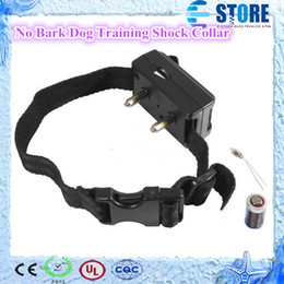 Wholesale Electronic Bark Dog Collars - ELECTRONIC AUTO ANTI-BARK DOG TRAINING SHOCK COLLAR Stopping Nuisance Barking,100 % Test Hot Free Shipping wu