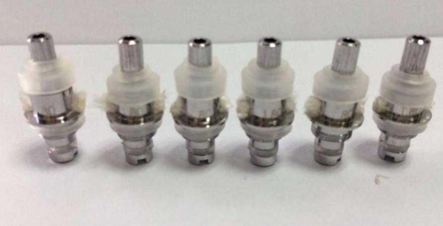 MT3 Atomizer Değiştirilebilir bobin Ayrılabilir Bobin Kafası Değiştirilebilir Kanger T3 EVOD Cartomizer Bobin Kafası 1.8 / 2.4 / 2.8ohm EVOD MT3 Clearomizer Için