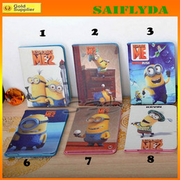 Wholesale Minions Ipad Case - HOT Smart Cover Me 2 Minion Case for iPad 2 3 4 with Leather foldable Stand Cover Case for iPad Mini ipad air