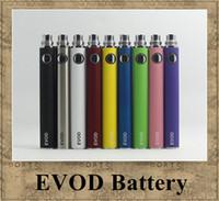 ingrosso sigaretta elettronica atomizzatore di batteria evod-Batteria EVOD Voltaggio variabile 3.3V 3.7V 4.2V 650mah 900mah 1100mah sigaretta elettronica partita con CE4 MT3 ego atomizzatore
