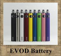evod batterie zerstäuber elektronische zigarette großhandel-EVOD Batterie Variable Voltage 3.3V 3.7V 4.2V 650mah 900mah 1100mah elektronische Zigarette Match CE4 MT3 Ego Zerstäuber DHL