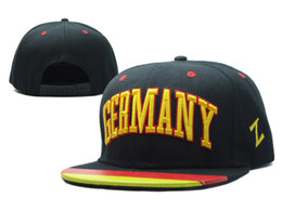 Wholesale Hat World Cup - World Cup Germany Snapback Soccer Snapbacks Mens Womens Snap Backs Hats Fashion Hip Hop Caps with Flag Brim Snap Back Hats New Sports Caps