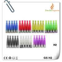 Wholesale Ego C Ce5 Wickless - GS H2 Atomizer GS-H2 Clearomizer no wick wickless, replace ce4 ce5 CE4S CE6 dct Tanks fit ego t ego w ego-c 510 battery electronic cigarette