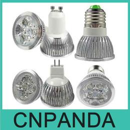 Wholesale 4x3w Mr16 Led 12v - Free shipping High Power CREE 12W 4x3W Dimmable GU10 MR16 E27 E14 GU5.3 B22 Led Light Lamps Spotlight Led Bulbs