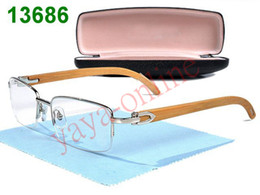 Wholesale Designer Glass Cloths - best sale brand half glasses designer eyeglass with good lenses box tags cleaning cloth mixed order