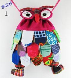 Discount children plain backpacks - Fashion Hot children bag backpack owl fashion baby kids school bags Chinese national characteristics