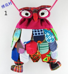 Wholesale Owl Print Fabric - Fashion Hot children bag backpack owl fashion baby kids school bags Chinese national characteristics