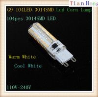 Wholesale Max Lumen Led Light - Brand G9 LED Bulb Lamp Max 10W 3014 SMD 110V-240V Light High Lumen Energy Saving Silicone Crystal 104Leds Lighting