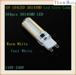 Wholesale G9 Energy Saving Bulbs - Brand G9 LED Bulb Lamp Max 10W 3014 SMD 110V-240V Light High Lumen Energy Saving Silicone Crystal 104Leds Lighting