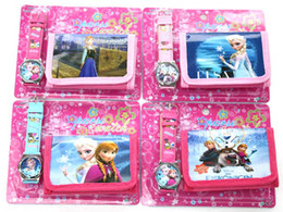 Wholesale Girls Pink Purse For Kids - 10 PCS  Anna ELSA  OLAF Cute Cartoon Child Wrist Watch Clock One Purse Wallet Pocket for Boys and Girls, Kids Gift