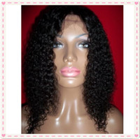 Wholesale Cheap Brazilian Virgin Half Wig - 7A grade cheap wigs human hair full lace wigs glueless lace frontal wigs jerry curl for African Americans with baby hair