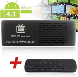 Tv Usb Stick Android Hd Canada - MK808-B Bluetooth Android 4.1.1 Dual Core 8GB RK3066 WiFi Mini PC TV Box Stick from cardmate