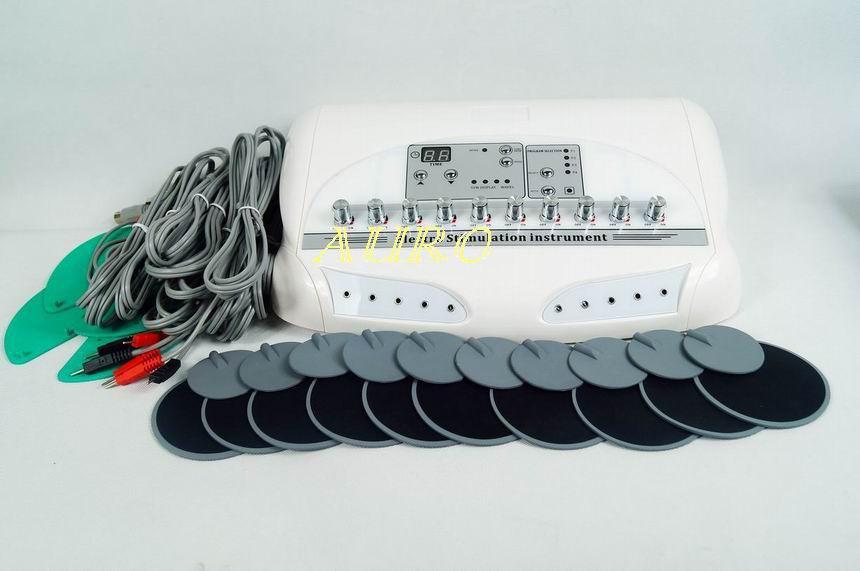 Güçlü Rus dalga faradic Onlarca EMS Kas Stimülatörü Selülit Azaltma güzellik makinesi için CE onayı AU-6804B