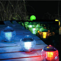 Wholesale Solar Floating Balls - New Waterproof Solar Light Floating Pond Lamp 7 Color Changing Lamp Lamp Solar Ball Light LED Light Best Outdoor Lighting