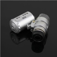 Wholesale Magnifier Free Shipping - Mini 60X Jeweler Loupe Magnifier Microscope w LED Light top sale free shipping