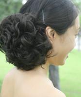 chignons achat en gros de-Livraison gratuite-dames de cheveux synthétiques mode 3colors chignons extensions de cheveux faciles à porter-vente
