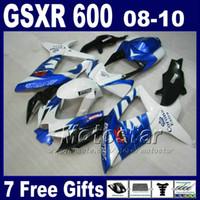 Wholesale gsxr abs motorcycle fairing resale online - Fairing kit for SUZUKI GSXR600 K8 black motorcycle parts GSXR fairings sets gifts BT36