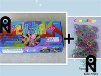 Wholesale Loom Toys - Zorn Store-Genuine Rainbow Loom Kit Free shipping loom band DIY educational toys 1set=(100 bag +50 box )