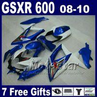 partes de carreras de motos al por mayor-Piezas de motocicletas para carreras de carretera para 2008 2009 2010 SUZUKI GSX-R600 / 750 K8 carenados GSXR 600 750 08 09 10 carenado kit de carrocería