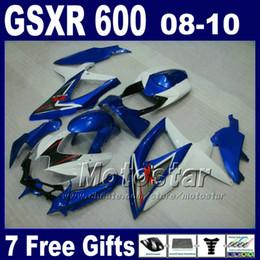 Motorradrennen teile online-Rennmotorradteile für 2008 2009 2010 SUZUKI GSX-R600 / 750 K8 Verkleidungen GSXR 600 750 08 09 10 Verkleidungsbausatz