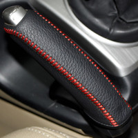 Wholesale Stitch Car Covers - Handbrake Cover For Honda Civic 2004-2011 XuJi Car Special Hand-stitched Black Genuine Leather Handbrake Covers