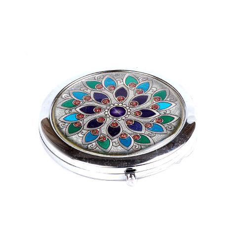 Mirror Makeup Blank Compact Mirror Portable Pocket Cosmetic Hand Salon Openwork Carving Surface Mirror