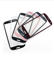 black faceplates - For Samsung Galaxy S3 I9300 Colorful Glass Faceplates Front Outer Screen Lens Black White Red Pink Color Glass BY DHL