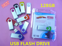 Wholesale custom usb flash drives - Wholesale - 128GB swivel custom USB 2.0 Flash Memory Pen Drives Sticks Disks Discs 128GB usb flash drive 128GB usb stick disk free dhl 805