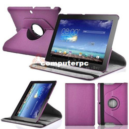 Wholesale Ipad Rotating Pink Case - 1Pc 360 Rotating PU Leathe Stand Case Cover For ASUS MEMO PAD 10 (ME102A)+Free Shipping