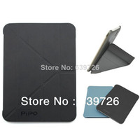 Wholesale Case Tablet Pc M9 - New Style! Silicon and leather case for PiPO M9Pro M9 10'1 inch tablet PC free shipping Cheap bargin protective case black blue