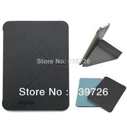 Wholesale Cheap New Apple Ipad - New Style! Silicon and leather case for PiPO M9Pro M9 10'1 inch tablet PC free shipping Cheap bargin protective case black blue