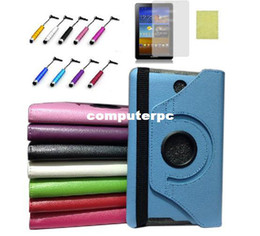 "Wholesale Asus Fonepad Me371 Case - For Asus 7"" FonePad ME371MG ME371 360 Rotating Leather Case Cover & Film &Stylus"