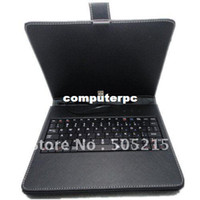 """Wholesale Ipad Mid - Promotion!!!! Black 8"""" USB 2.0 Leather Case With Keyboard Cover for 8 inch Tablet PC MID PDA"""