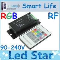 Wholesale N Dc - AC90-230V, 3 Channels 500mA ecah Channel N-MOS open-drain output wireless RF 20keys LED RGB Controller,110V<165W,220V<230W