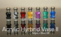 Wholesale Ego Hybrid - Hybrid Vase II B Acrylic & Steel 510 Vapor stainless steel with Acrylic bead Drip Tips EGO Mouthpieces 510 Vivi nova Dct cartomizers